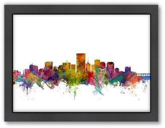 Richmond Americanflat Michael Tompsett ''Richmond, Virginia Skyline I'' Framed Wall Art