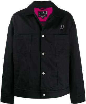 Fred Perry printed lining denim jacket