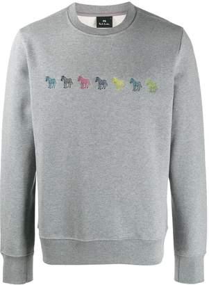 Paul Smith zebra embroidered sweatshirt