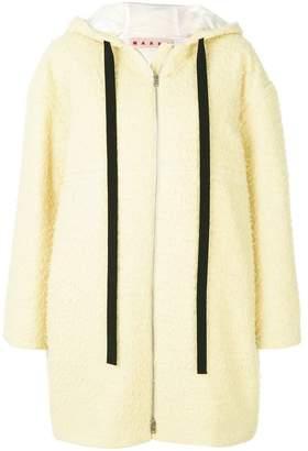 Marni hooded straight fit coat