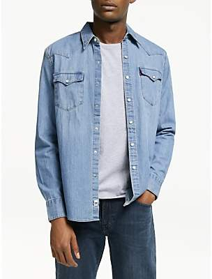 Levi's Barstow West Denim Shirt, Red Cast Stone
