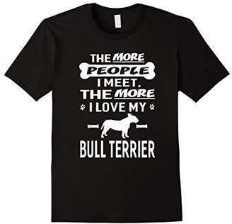 Breed I Love My Bull Terrier Dog Animal Funny Gift T-Shirt
