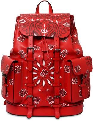 Bandana Print Leather Belt Bag