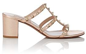 Valentino Women's Rockstud Leather Mules - Gold