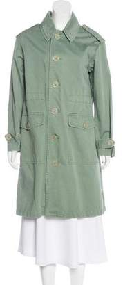 Marc Jacobs Distressed Knee-Length Coat