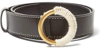 Roksanda Yarn Wrapped Buckle Leather Belt - Womens - Black