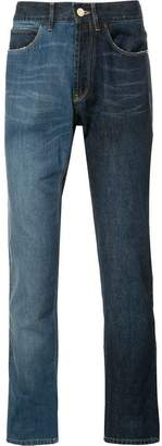 Lanvin two-tone contrast skinny jeans