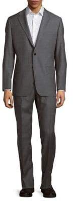 Hickey Freeman Classic-Fit Milburn Wool Striped Suit