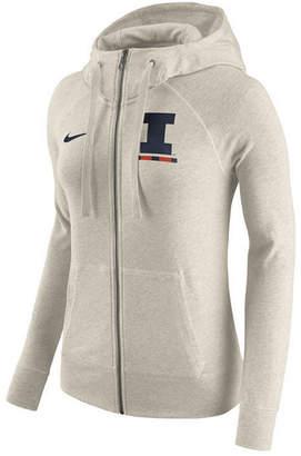 Nike Women's Illinois Fighting Illini Gym Vintage Full-Zip Hoodie