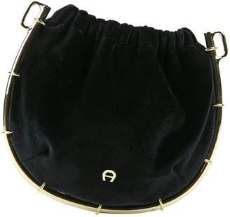 Aigner Velvet Clutch Bag