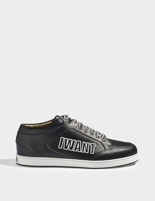 Jimmy Choo Miami logo sneakers