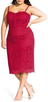 City Chic Strappy Crochet Lace Sundress
