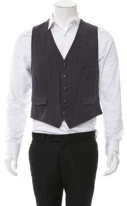 Band Of Outsiders Patterned Button-Up Vest