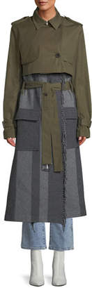 Derek Lam 10 Crosby 2-in-1 Trench Coat with Fringe
