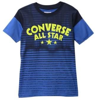 Converse Faded Striped Graphic Top (Big Boys)