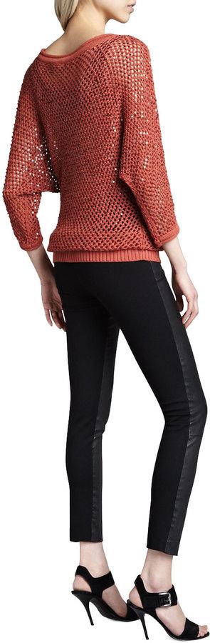 Catherine Malandrino Karen Leather Stretch Pants