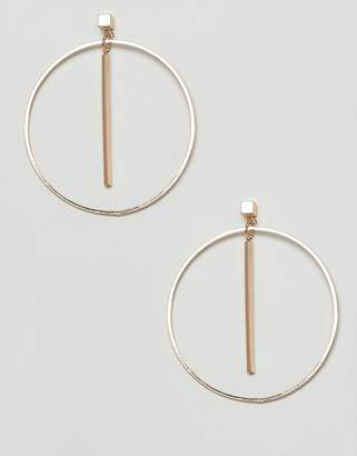 NY:LON Drop Hoop Earrings