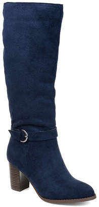 Journee Collection Womens Joelle Stacked Heel Zip Dress Boots