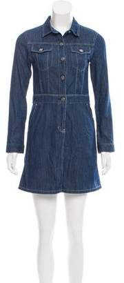 Sjyp Long Sleeve Denim Dress
