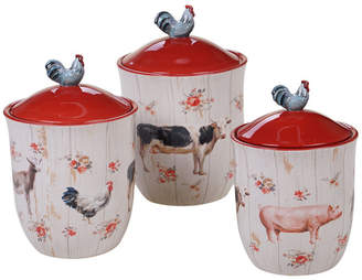 Certified International Farmhouse Canisters, Set of 3