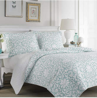 Laura Ashley King Mia Soft Blue Quilt Set Bedding