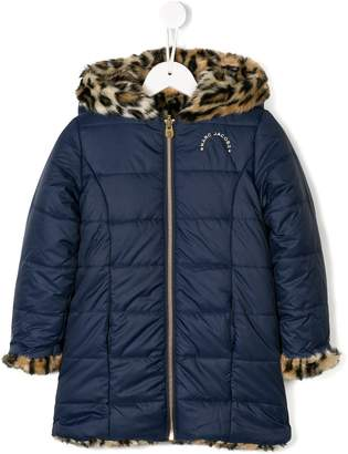 Little Marc Jacobs reversible faux fur padded coat