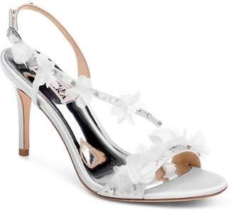 Badgley Mischka Women's Irene Flower-Embellished High-Heel Sandals
