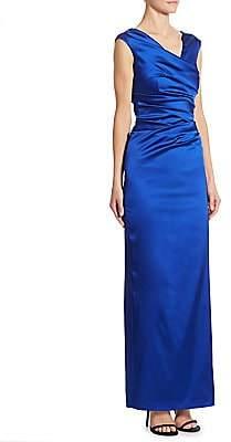 Talbot Runhof Women's Satin Ruched Gown