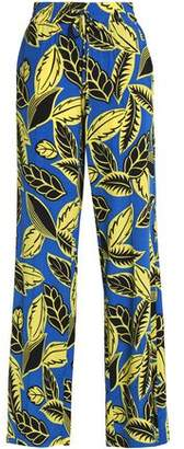Moschino Printed Jersey Wide-Leg Pants