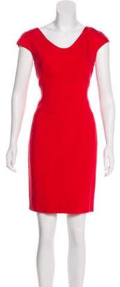 Dolce & Gabbana Short Sleeve Mini Dress Red Short Sleeve Mini Dress