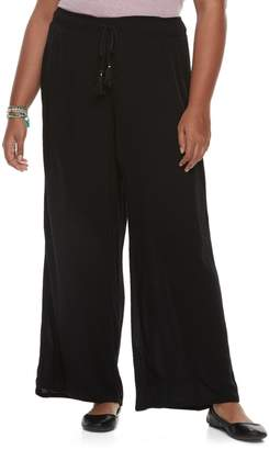 Mudd Juniors' Plus Size Wide-Leg Soft Pants