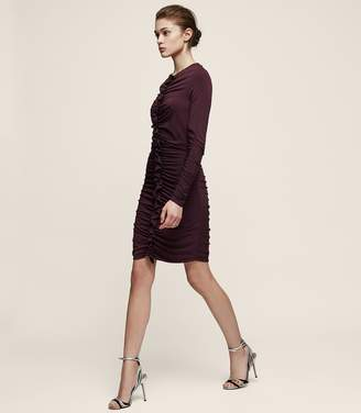 Reiss Harriet Ruffle-Front Bodycon Dress