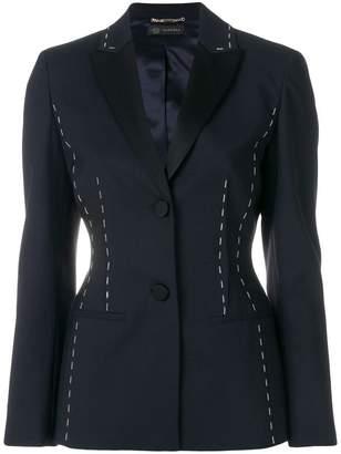 Versace stitch detail blazer