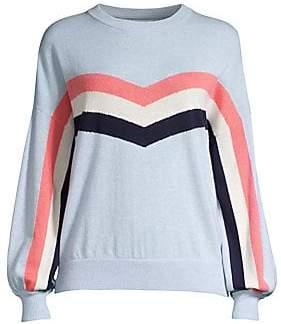 Spiritual Gangster Women's Colorblock Stripe Crewneck Sweater