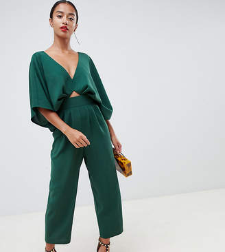 Asos DESIGN Petite jumpsuit with kimono sleeve and peg leg