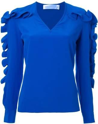 Victoria Victoria Beckham ruffled sleeve blouse