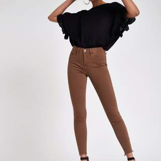 River Island Womens Brown Molly mid rise jeggings