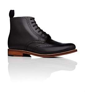 Grenson Alfred Lace Up Boot W/ Brogue Detail And Welted Leather Sole
