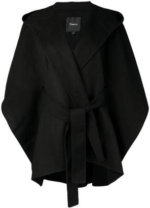 Theory belted cape coat