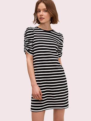 Kate Spade Sailing Stripe Dress, Black/Cream - Size L