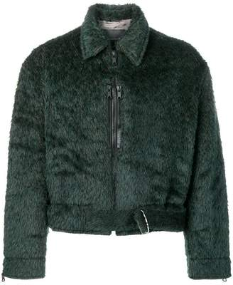 MACKINTOSH 0003 textured zipped-up jacket