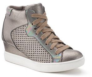 Candie's® Girls' Glitter Wedge Sneakers $54.99 thestylecure.com