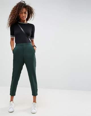 Asos Design Tailored Tab Detail Ankle Grazer Trouser