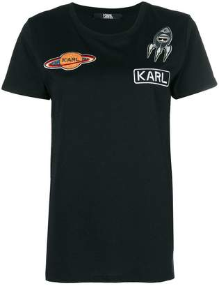 Karl Lagerfeld space patch T-Shirt