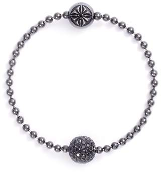 Shamballa Jewels Royal' diamond rhodium 18k gold bead bracelet