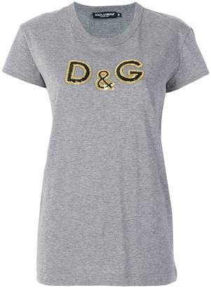Dolce & Gabbana sequin detail T-shirt