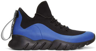 Fendi Black and Blue Vocabulary Running Sneakers