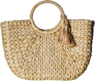 Hat Attack - Round Handle Tote Tote Handbags $112 thestylecure.com