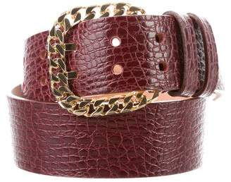 DSQUARED2 Embossed Chain-Link Belt w/ Tags