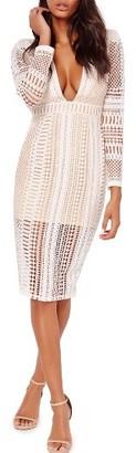 Women's Missguided Crochet Lace Midi Dress $123 thestylecure.com